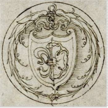 Design for an Ornament or Signet Ring with the Arms of Lazarus Spengler